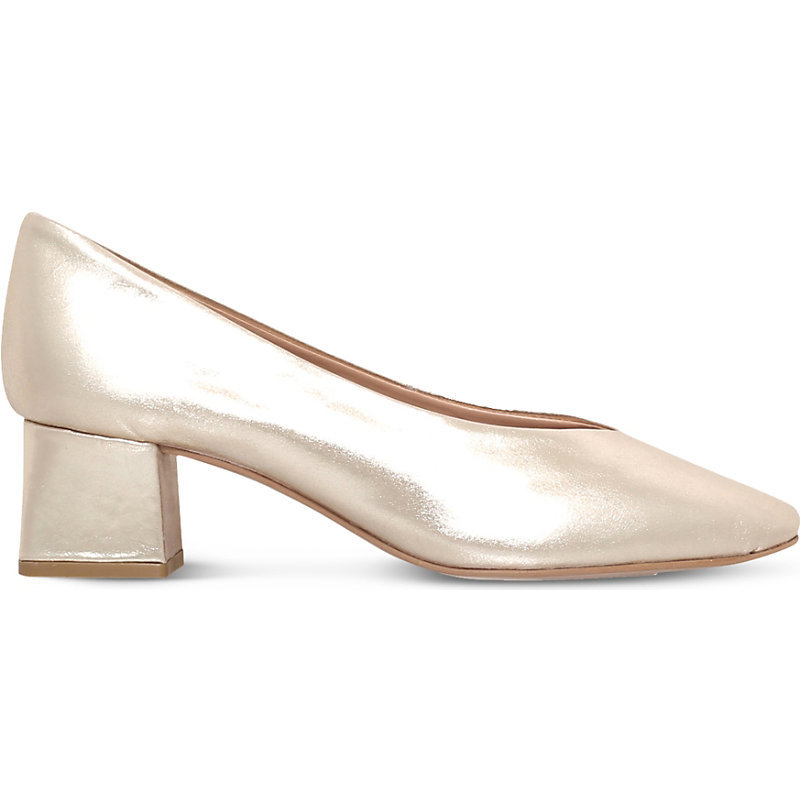 Antidote Metallic Leather Courts, Women's, Eur 40 / 7 Uk Women, Gold - predominant colour: gold; occasions: evening, occasion; material: leather; heel height: mid; heel: block; toe: pointed toe; style: courts; finish: metallic; pattern: plain; season: s/s 2016; wardrobe: event