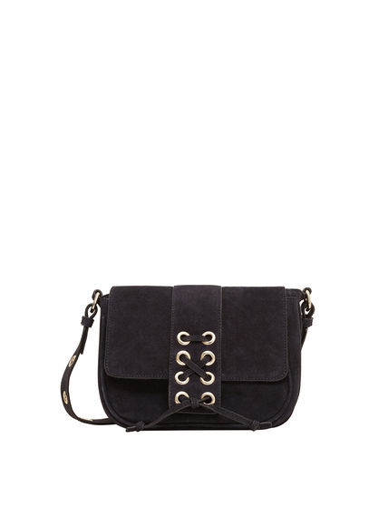 Leather Cross Body Bag - predominant colour: black; occasions: casual, creative work; type of pattern: standard; style: messenger; length: across body/long; size: standard; material: leather; pattern: plain; finish: plain; season: s/s 2016; wardrobe: basic