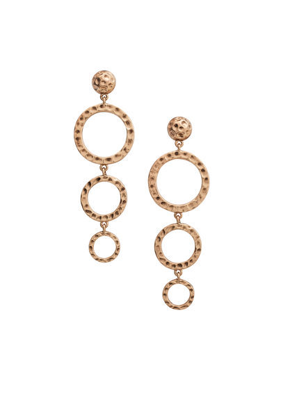 Twisted Hoop Earrings - predominant colour: gold; occasions: evening, occasion; style: drop; length: long; size: standard; material: chain/metal; fastening: pierced; finish: metallic; embellishment: chain/metal; season: s/s 2016; wardrobe: event