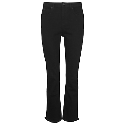Cigarette Jean, Black - style: bootcut; length: standard; pattern: plain; pocket detail: traditional 5 pocket; waist: mid/regular rise; predominant colour: black; occasions: casual; fibres: cotton - stretch; texture group: denim; pattern type: fabric; season: s/s 2016; wardrobe: basic