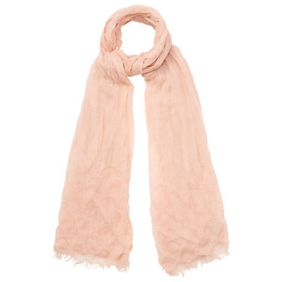 Camille Scarf, Blush - predominant colour: nude; occasions: casual, creative work; type of pattern: standard; style: regular; size: standard; material: fabric; pattern: plain; season: s/s 2016