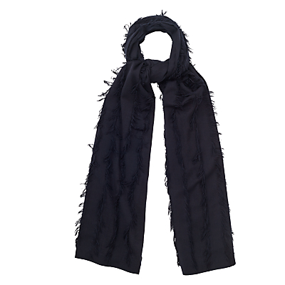 Rosie Fringe Scarf - predominant colour: black; occasions: casual, creative work; type of pattern: standard; style: regular; size: standard; material: fabric; pattern: plain; season: s/s 2016; wardrobe: basic