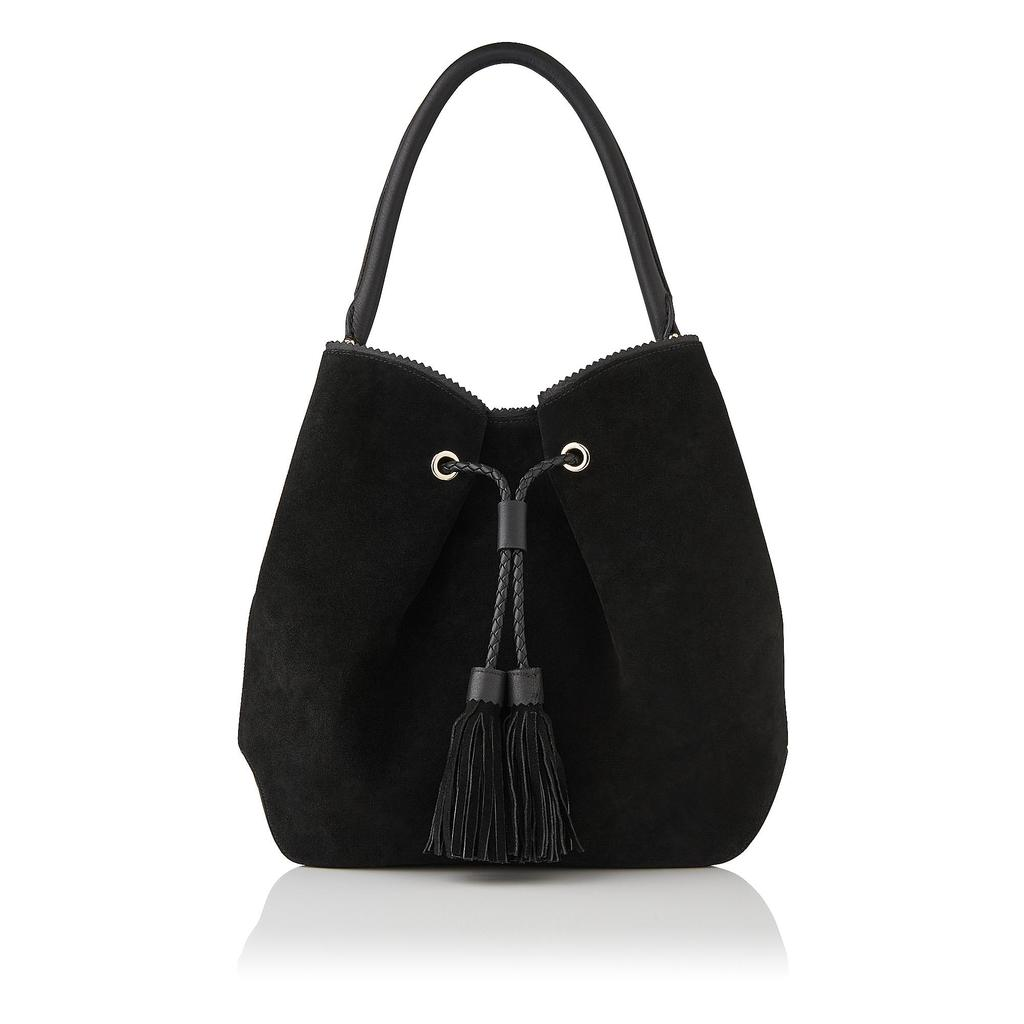 Thelma Leather Tote Bag Black - predominant colour: black; occasions: casual; type of pattern: standard; style: shoulder; length: shoulder (tucks under arm); size: standard; material: leather; embellishment: tassels; pattern: plain; finish: plain; season: s/s 2016; wardrobe: investment