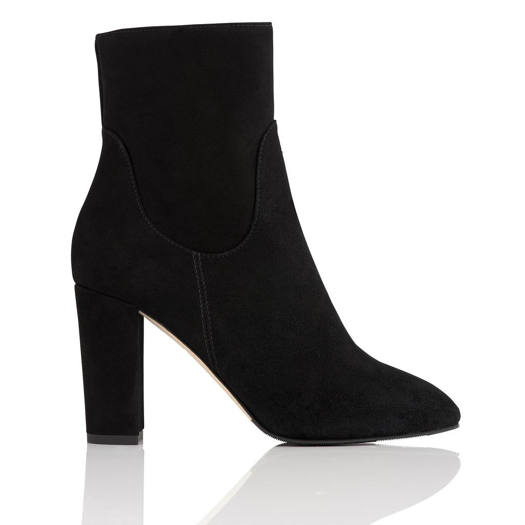 Pellino Black Suede Ankle Boots Black - predominant colour: black; occasions: casual; material: suede; heel height: high; heel: block; toe: pointed toe; boot length: ankle boot; style: standard; finish: plain; pattern: plain; season: s/s 2016