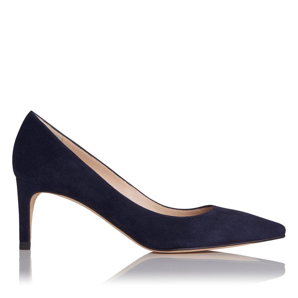 Florida Navy Suede Courts Blue Navy - predominant colour: navy; occasions: evening; material: suede; heel: stiletto; toe: pointed toe; style: courts; finish: plain; pattern: plain; heel height: very high; season: s/s 2016