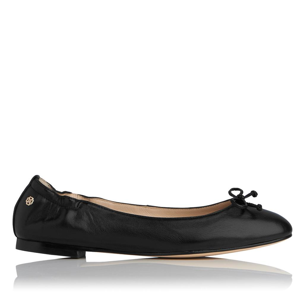 Thea Black Flat Ballet Pump Black - predominant colour: black; occasions: casual; material: leather; heel height: flat; toe: round toe; style: ballerinas / pumps; finish: plain; pattern: plain; season: s/s 2016; wardrobe: basic