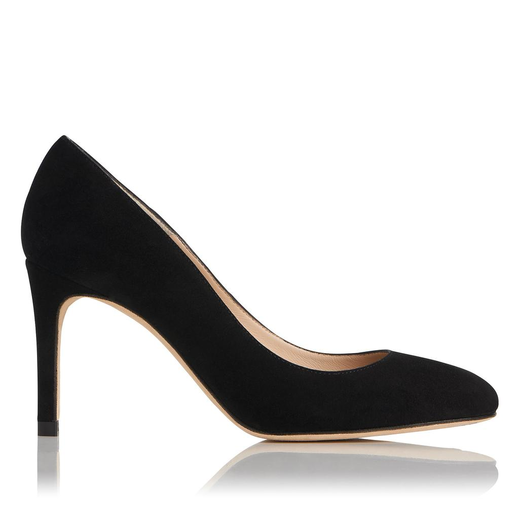 Sasha Black Suede Courts - predominant colour: black; occasions: evening; material: suede; heel height: high; heel: stiletto; toe: pointed toe; style: courts; finish: plain; pattern: plain; season: s/s 2016; wardrobe: event