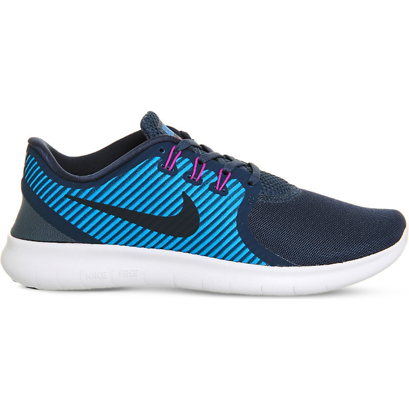 Free Run Commuter, Women's, Squadron Blue - secondary colour: diva blue; predominant colour: navy; material: fabric; heel height: flat; toe: round toe; style: trainers; finish: plain; pattern: patterned/print; occasions: activity; multicoloured: multicoloured; season: s/s 2016