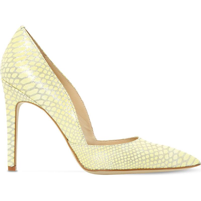 Alia Snake Embossed Courts, Women's, Eur 36 / 3 Uk Women, Yellow Reptile - predominant colour: primrose yellow; occasions: evening, occasion; material: faux leather; heel height: high; heel: stiletto; toe: pointed toe; style: courts; finish: plain; pattern: plain; season: s/s 2016; wardrobe: event