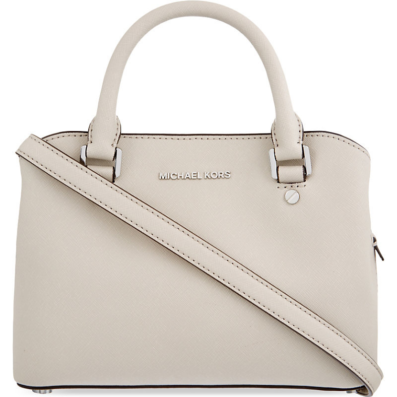 Savannah Small Leather Satchel, Women's, Light Brown - predominant colour: ivory/cream; occasions: casual, work, creative work; type of pattern: standard; style: tote; length: handle; size: standard; material: leather; pattern: plain; finish: plain; season: s/s 2016; wardrobe: investment