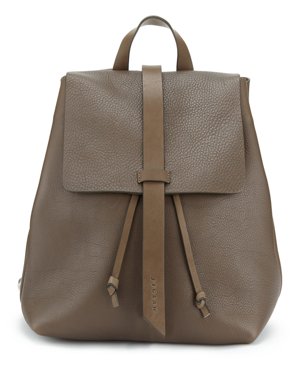 Blake Leather Backpack - predominant colour: chocolate brown; occasions: casual; type of pattern: standard; style: rucksack; length: rucksack; size: standard; material: leather; pattern: plain; finish: plain; season: s/s 2016