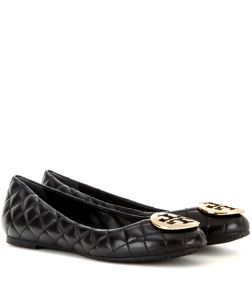 Quinn Quilted Leather Ballerinas - predominant colour: black; occasions: casual, work, creative work; material: leather; heel height: flat; embellishment: quilted; toe: round toe; style: ballerinas / pumps; finish: plain; pattern: plain; season: s/s 2016; wardrobe: basic