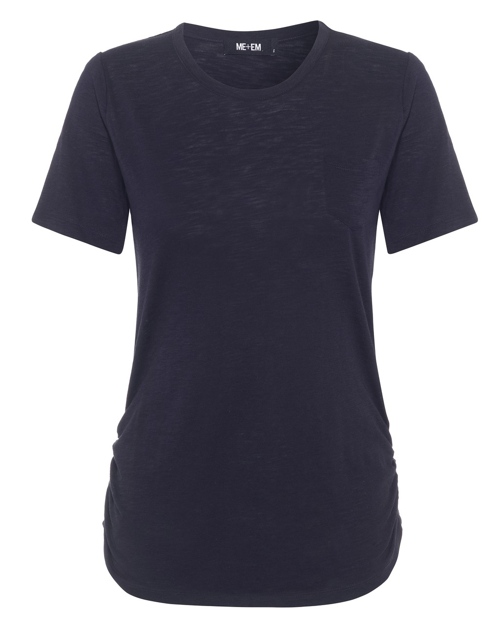 The Perfect Crew Neck Tee - pattern: plain; style: t-shirt; predominant colour: navy; occasions: casual; length: standard; fibres: cotton - 100%; fit: body skimming; neckline: crew; sleeve length: short sleeve; sleeve style: standard; pattern type: fabric; texture group: jersey - stretchy/drapey; season: s/s 2016