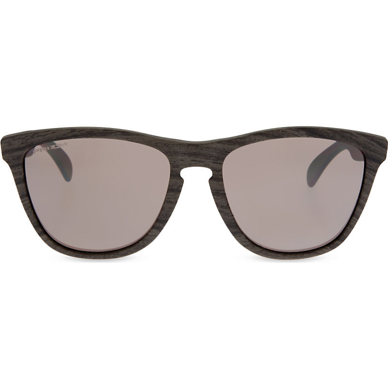 Frogskins Prizm™ Daily Polarized Woodgrain Sunglasses, Women's - predominant colour: black; occasions: casual, holiday; style: cateye; size: standard; material: plastic/rubber; pattern: plain; finish: plain; season: s/s 2016; wardrobe: basic