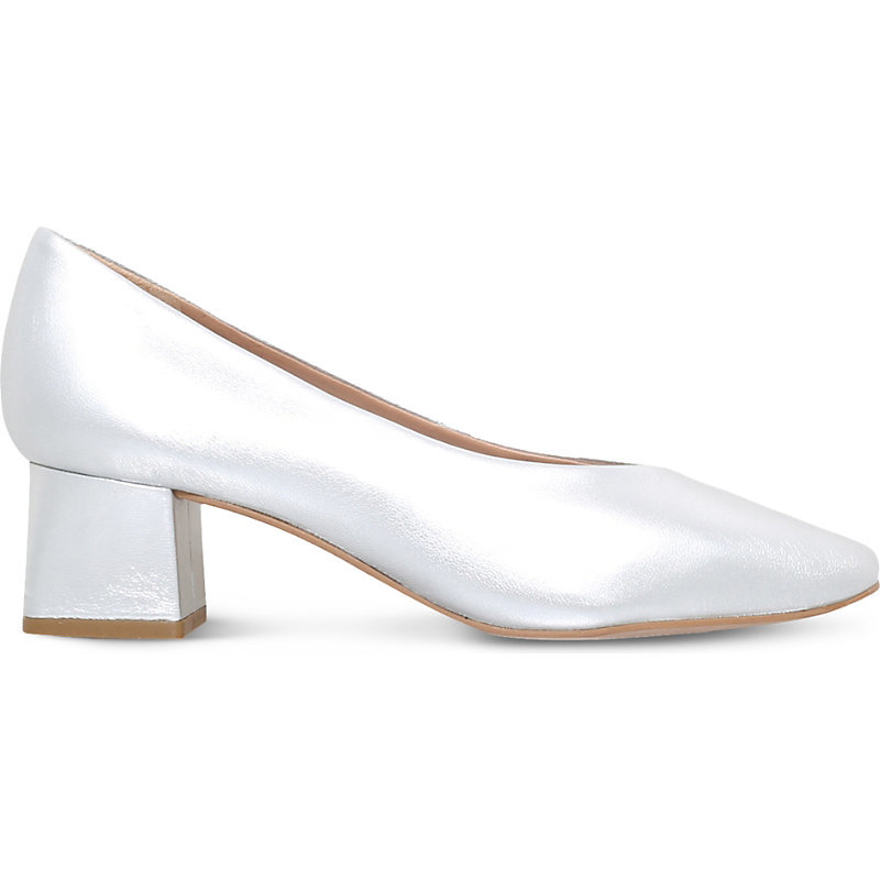 Antidote Metallic Leather Courts, Women's, Eur 39 / 6 Uk Women, Silver - predominant colour: silver; occasions: evening; material: leather; heel height: mid; heel: block; toe: pointed toe; style: courts; finish: metallic; pattern: plain; season: s/s 2016; wardrobe: event