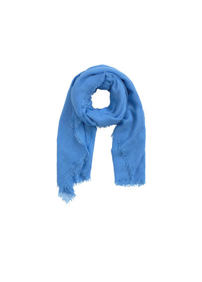 Textured Scarf - predominant colour: diva blue; occasions: casual; type of pattern: standard; style: regular; size: standard; material: fabric; pattern: plain; season: s/s 2016