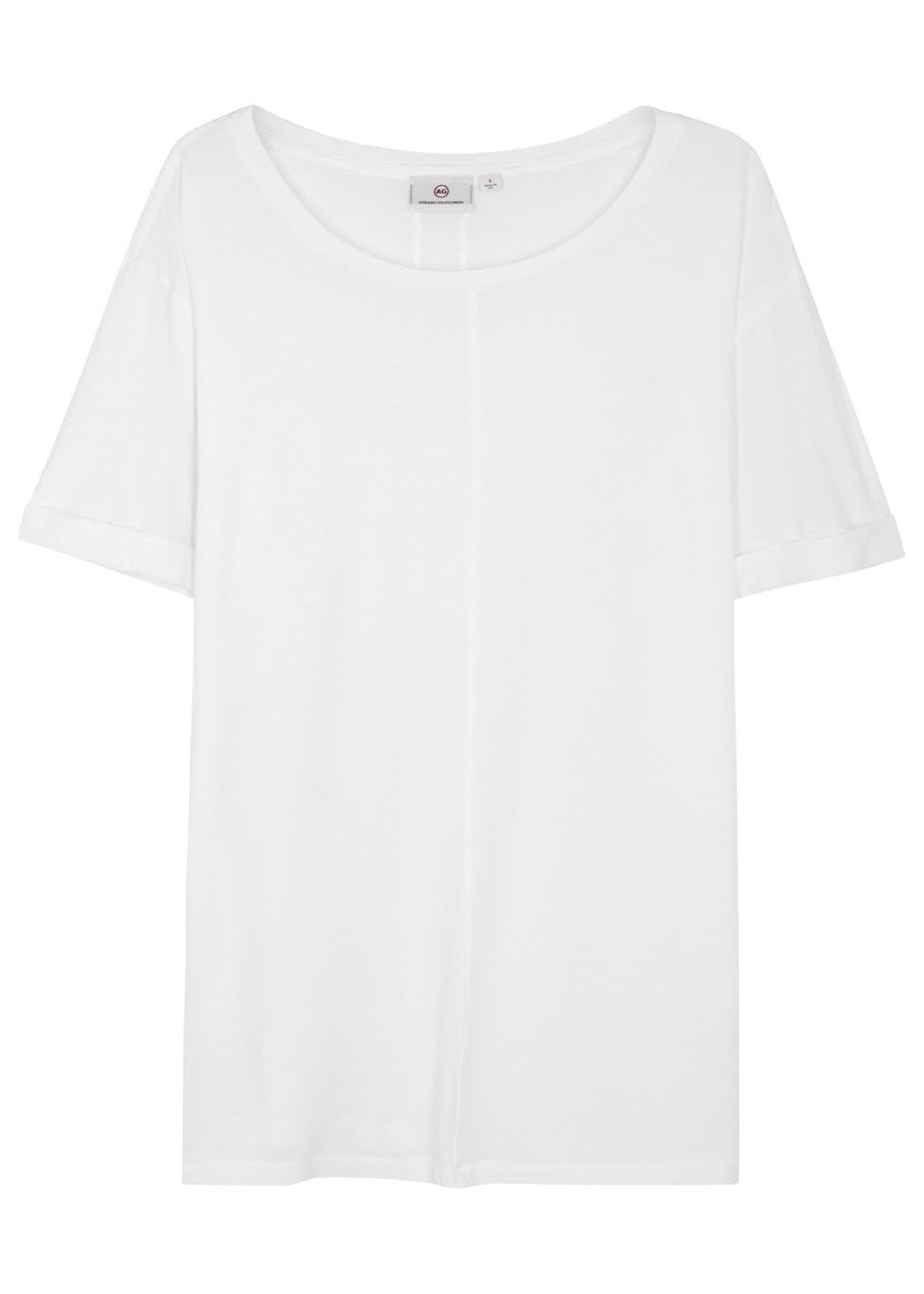 The Raw Grove White Cotton T Shirt - neckline: round neck; pattern: plain; style: t-shirt; predominant colour: white; occasions: casual; length: standard; fibres: cotton - 100%; fit: loose; sleeve length: short sleeve; sleeve style: standard; pattern type: fabric; texture group: jersey - stretchy/drapey; season: s/s 2016; wardrobe: basic