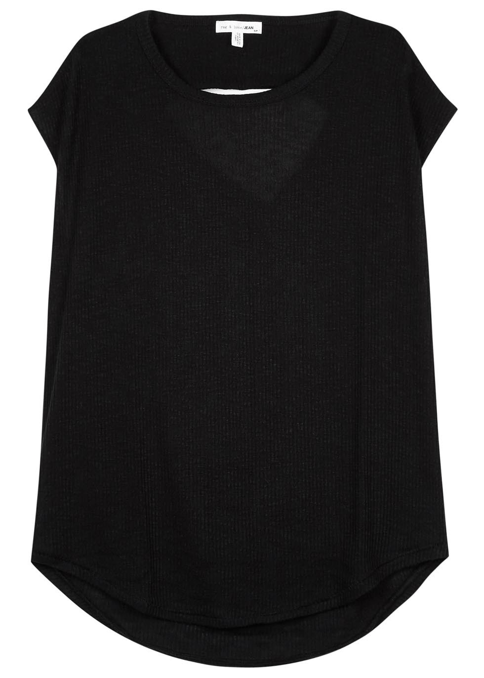 Highland Open Back Cotton T Shirt - neckline: round neck; pattern: plain; length: below the bottom; style: t-shirt; predominant colour: black; occasions: casual; fibres: cotton - 100%; fit: body skimming; sleeve length: short sleeve; sleeve style: standard; pattern type: fabric; texture group: jersey - stretchy/drapey; season: s/s 2016; wardrobe: basic