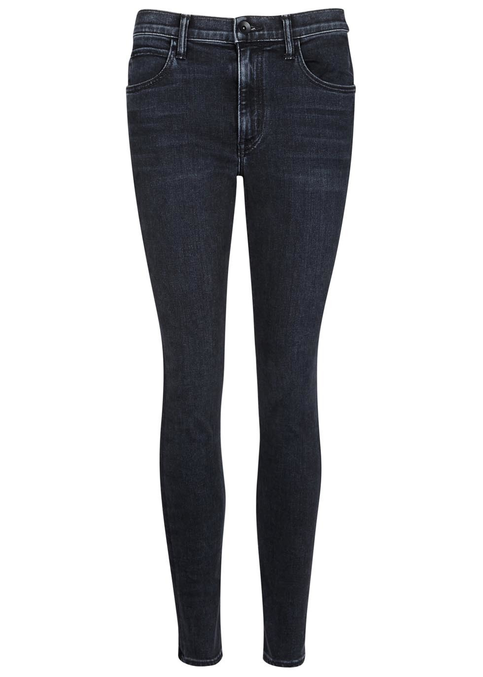 Black Cropped Skinny Jeans - style: skinny leg; length: standard; pattern: plain; pocket detail: traditional 5 pocket; waist: mid/regular rise; predominant colour: black; occasions: casual, creative work; fibres: cotton - stretch; texture group: denim; pattern type: fabric; season: s/s 2016; wardrobe: basic