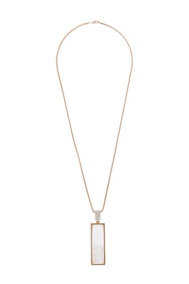 Facet Bead Shaker Pendant - predominant colour: gold; occasions: evening, creative work; style: pendant; length: long; size: standard; material: chain/metal; finish: metallic; season: s/s 2016; wardrobe: basic
