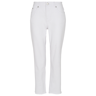 Relaxed Straight Jeans, White - style: straight leg; length: standard; pattern: plain; waist: high rise; pocket detail: traditional 5 pocket; predominant colour: white; occasions: casual; fibres: cotton - 100%; texture group: denim; pattern type: fabric; season: s/s 2016; wardrobe: highlight