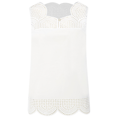 Budding Vest - pattern: plain; sleeve style: sleeveless; style: vest top; neckline: sweetheart; predominant colour: white; occasions: casual, evening, creative work; length: standard; fibres: cotton - 100%; fit: straight cut; sleeve length: sleeveless; pattern type: fabric; texture group: jersey - stretchy/drapey; season: s/s 2016