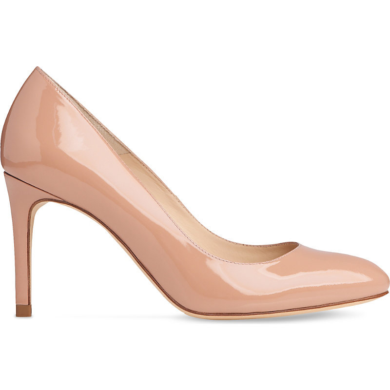 Sasha Patent Leather Courts, Women's, Eur 35.5 / 2.5 Uk Women, Nat Fawn - predominant colour: nude; occasions: evening; material: leather; heel height: high; heel: stiletto; toe: pointed toe; style: courts; finish: patent; pattern: plain; season: s/s 2016; wardrobe: event