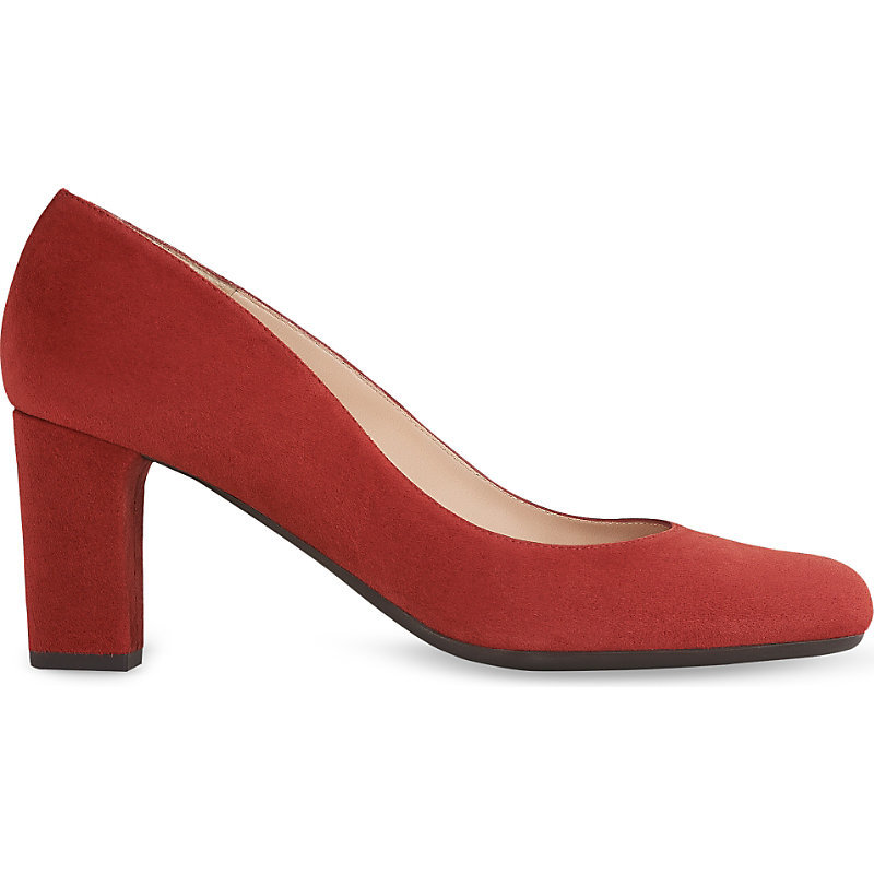 Sersha Suede Courts, Women's, Eur 41 / 8 Uk Women, Bro Rust - predominant colour: true red; occasions: evening; material: suede; heel height: high; heel: block; toe: round toe; style: courts; finish: plain; pattern: plain; season: s/s 2016; wardrobe: event