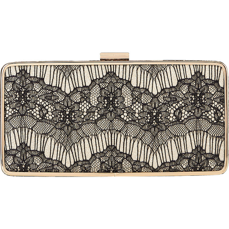 Nora Boxy Lace Clutch, Women's, Bla Black - predominant colour: black; occasions: evening; type of pattern: standard; style: clutch; length: hand carry; size: small; material: lace; finish: plain; pattern: patterned/print; embellishment: lace; season: s/s 2016; wardrobe: event