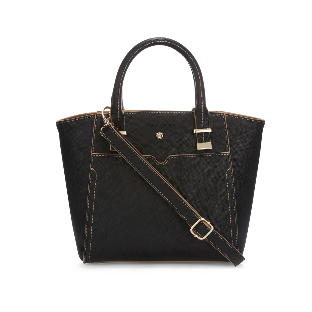 Black Pocket Detail Grab Bag - predominant colour: black; occasions: casual, work, creative work; type of pattern: standard; style: grab bag; length: handle; size: standard; material: faux leather; pattern: plain; finish: plain; season: s/s 2016; wardrobe: investment