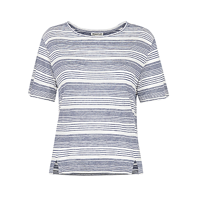 Stripe Alice T Shirt, Blue - neckline: round neck; pattern: horizontal stripes; style: t-shirt; secondary colour: white; predominant colour: navy; occasions: casual; length: standard; fibres: cotton - 100%; fit: straight cut; sleeve length: short sleeve; sleeve style: standard; pattern type: fabric; pattern size: standard; texture group: woven light midweight; season: s/s 2016; wardrobe: basic