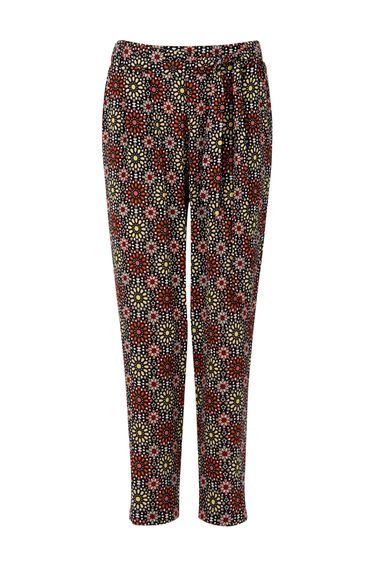 Petite Mosaic Print Trouser - length: standard; style: peg leg; waist: mid/regular rise; secondary colour: pink; predominant colour: black; fibres: polyester/polyamide - stretch; fit: tapered; pattern type: fabric; pattern: patterned/print; texture group: other - light to midweight; occasions: creative work; pattern size: standard (bottom); multicoloured: multicoloured; season: s/s 2016; wardrobe: highlight