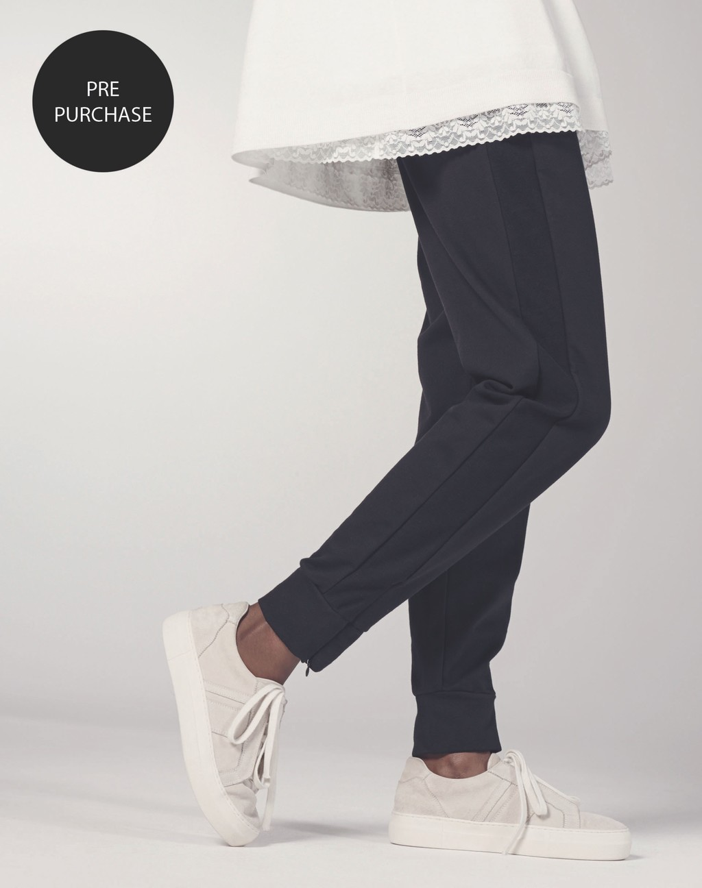 Side Stripe Jogger Black - length: standard; pattern: plain; style: tracksuit pants; waist: mid/regular rise; predominant colour: navy; occasions: casual; fibres: cotton - stretch; fit: tapered; pattern type: fabric; texture group: jersey - stretchy/drapey; season: s/s 2016