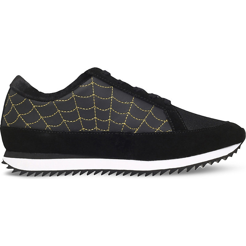 Work It! Suede Trainers, Women's, Eur 35.5 / 2.5 Uk Women, Black - predominant colour: black; occasions: casual; material: suede; heel height: flat; toe: round toe; style: trainers; finish: plain; pattern: plain; season: s/s 2016; wardrobe: basic