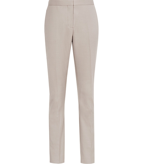 Truman Trouser Slim Leg Trousers - length: standard; pattern: plain; waist: mid/regular rise; predominant colour: stone; fibres: wool - stretch; fit: slim leg; pattern type: fabric; texture group: woven light midweight; style: standard; occasions: creative work; season: s/s 2016; wardrobe: basic