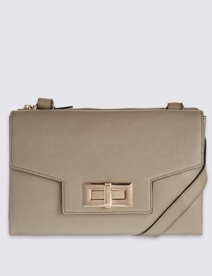 Faux Leather Envelope Bag - predominant colour: nude; type of pattern: standard; style: clutch; length: hand carry; size: small; material: faux leather; pattern: plain; finish: plain; occasions: creative work; season: s/s 2016; wardrobe: investment