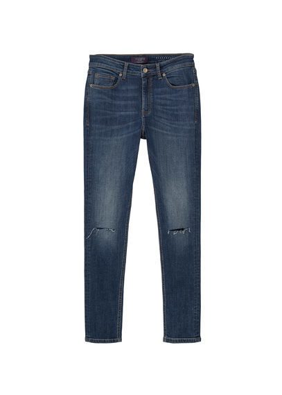 Super Slim Fit Alexandra Jeans - length: standard; pattern: plain; pocket detail: traditional 5 pocket; style: slim leg; waist: mid/regular rise; predominant colour: navy; occasions: casual; fibres: cotton - stretch; jeans detail: whiskering, rips; texture group: denim; pattern type: fabric; season: s/s 2016