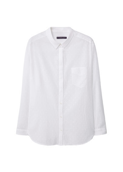 Plumeti Shirt - neckline: shirt collar/peter pan/zip with opening; pattern: plain; style: shirt; predominant colour: white; occasions: casual, work, creative work; length: standard; fibres: cotton - 100%; fit: body skimming; sleeve length: long sleeve; sleeve style: standard; texture group: cotton feel fabrics; pattern type: fabric; season: s/s 2016; wardrobe: basic