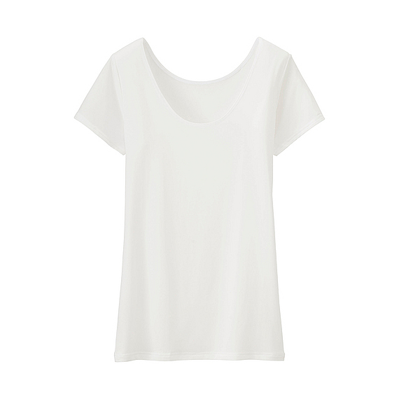 Women Ai Rism Scoop Neck Short Sleeve T Shirt White - pattern: plain; style: t-shirt; predominant colour: white; occasions: casual; length: standard; neckline: scoop; fibres: cotton - 100%; fit: body skimming; sleeve length: short sleeve; sleeve style: standard; texture group: jersey - clingy; pattern type: fabric; season: s/s 2016; wardrobe: basic