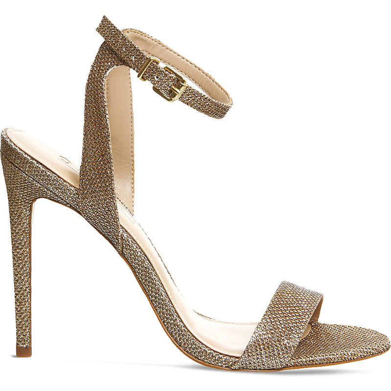 Alana Metallic Heeled Sandals, Women's, Champagne Lurex - predominant colour: champagne; occasions: evening, occasion; material: leather; ankle detail: ankle strap; heel: stiletto; toe: open toe/peeptoe; style: strappy; finish: metallic; pattern: plain; heel height: very high; season: s/s 2016; wardrobe: event