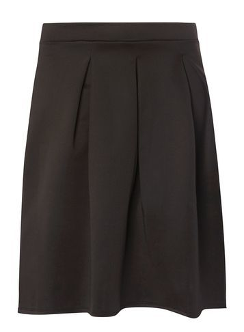 Womens **Dp Curve Black Scuba Skirt Black - pattern: plain; fit: body skimming; style: pleated; waist: mid/regular rise; predominant colour: black; occasions: evening; length: just above the knee; fibres: polyester/polyamide - stretch; pattern type: fabric; texture group: jersey - stretchy/drapey; season: s/s 2016; wardrobe: event