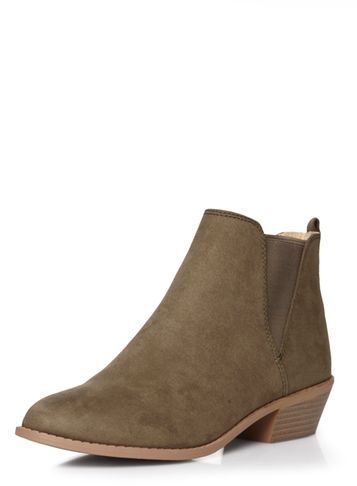 Womens Khaki 'millie' Prairie Boots Khaki - predominant colour: khaki; occasions: casual, creative work; material: suede; heel height: mid; heel: block; toe: pointed toe; boot length: ankle boot; finish: plain; pattern: plain; style: chelsea; season: s/s 2016; wardrobe: basic