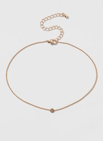 Womens Gold Chain Gold Disk Choker Necklace Gold - predominant colour: gold; occasions: evening, occasion; style: choker/collar/torque; length: choker; size: small/fine; material: chain/metal; finish: metallic; season: s/s 2016; wardrobe: event