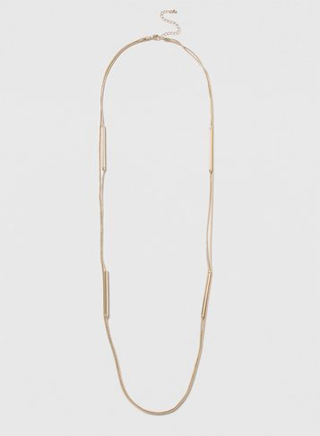 Womens Gold Multirow Necklace Gold - predominant colour: gold; occasions: evening, occasion; length: long; size: small/fine; material: chain/metal; finish: metallic; season: s/s 2016; style: chain (no pendant); wardrobe: event