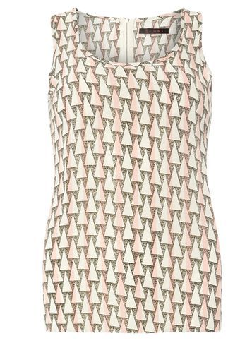 Womens **Tenki Pink Geo Print Tank Top Pink - neckline: round neck; sleeve style: sleeveless; style: vest top; secondary colour: nude; predominant colour: light grey; occasions: casual; length: standard; fibres: polyester/polyamide - 100%; fit: body skimming; sleeve length: sleeveless; pattern type: fabric; pattern: patterned/print; texture group: jersey - stretchy/drapey; multicoloured: multicoloured; season: s/s 2016