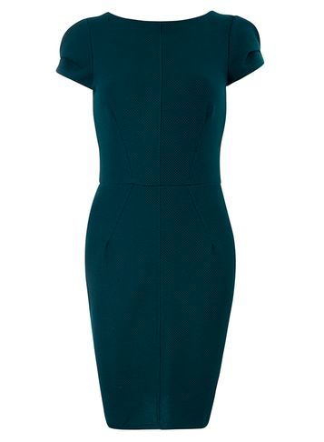Womens **Closet Teal Bodycon Dress Blue - length: mid thigh; sleeve style: capped; fit: tight; pattern: plain; style: bodycon; predominant colour: navy; occasions: evening; fibres: polyester/polyamide - stretch; neckline: crew; sleeve length: short sleeve; texture group: jersey - clingy; pattern type: fabric; season: s/s 2016; wardrobe: event
