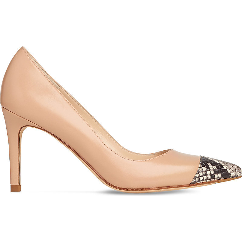 Kay Leather Courts, Women's, Eur 39 / 6 Uk Women, Bei Trench - predominant colour: nude; secondary colour: charcoal; occasions: evening; material: leather; heel height: high; heel: stiletto; toe: pointed toe; style: courts; finish: plain; pattern: animal print; season: s/s 2016; wardrobe: event