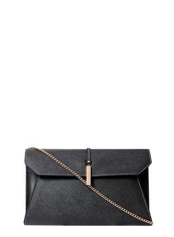 Womens Black Minimal Clutch Black - predominant colour: black; occasions: evening; type of pattern: standard; style: clutch; length: hand carry; size: small; material: faux leather; pattern: plain; finish: plain; season: s/s 2016; wardrobe: event