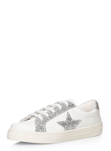 Womens Silver 'chelsea' Trainers Metallic - secondary colour: white; predominant colour: silver; occasions: casual; material: faux leather; heel height: flat; embellishment: glitter; toe: round toe; style: trainers; finish: plain; pattern: colourblock; shoe detail: moulded soul; season: s/s 2016; wardrobe: highlight