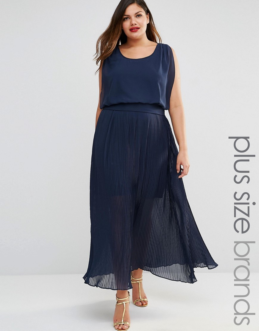 Mynte Maxi Dress Black Iris - neckline: round neck; sleeve style: capped; fit: fitted at waist; pattern: plain; style: maxi dress; length: ankle length; predominant colour: navy; fibres: polyester/polyamide - 100%; occasions: occasion; sleeve length: sleeveless; texture group: crepes; pattern type: fabric; season: s/s 2016; wardrobe: event